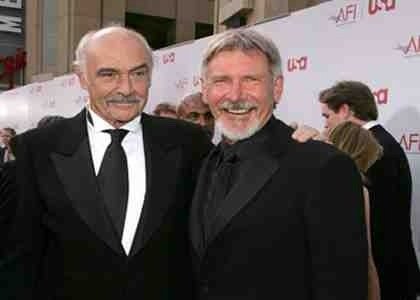 Sean Connery Harrison Ford Harrison Ford And Sean