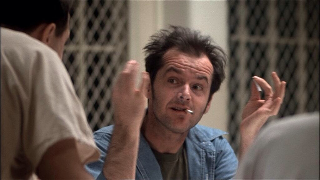 the changes in the power hierarchy caused by the arrival of mcmurphy in one flew over the cuckoos ne
